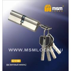 Цилиндровый механизм Msm C110 SN (матовый никель) перфо